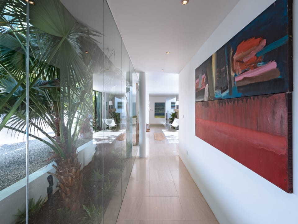 Hallway enclosed in glass