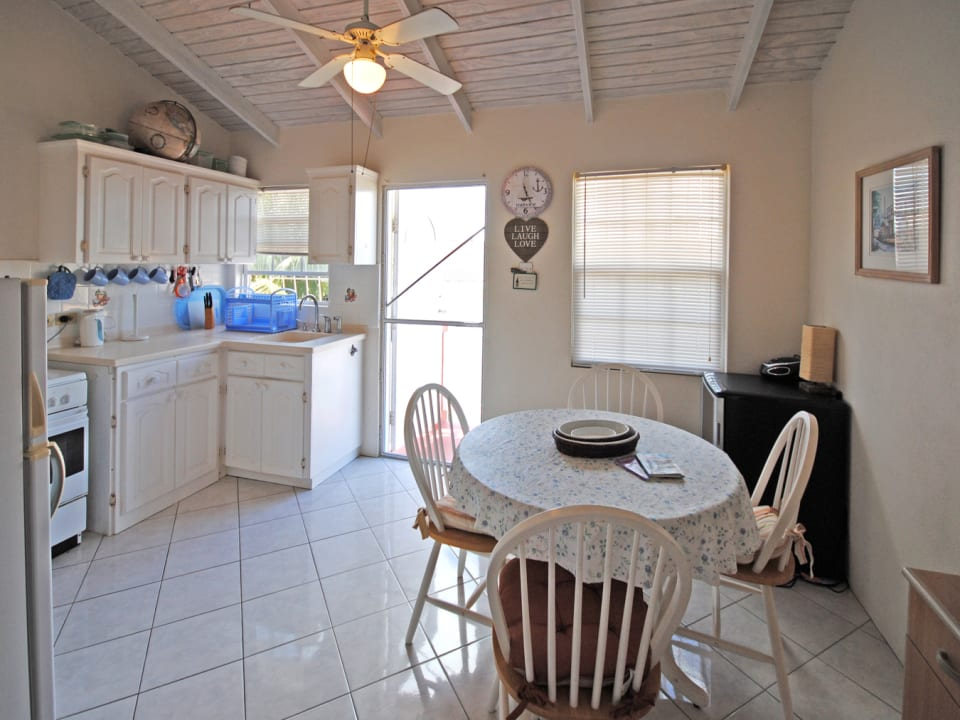Kitchen and dining in upper apartment