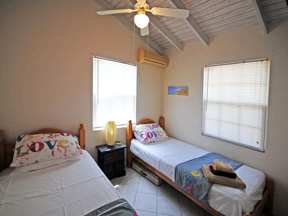 Bedroom two in upper apartment