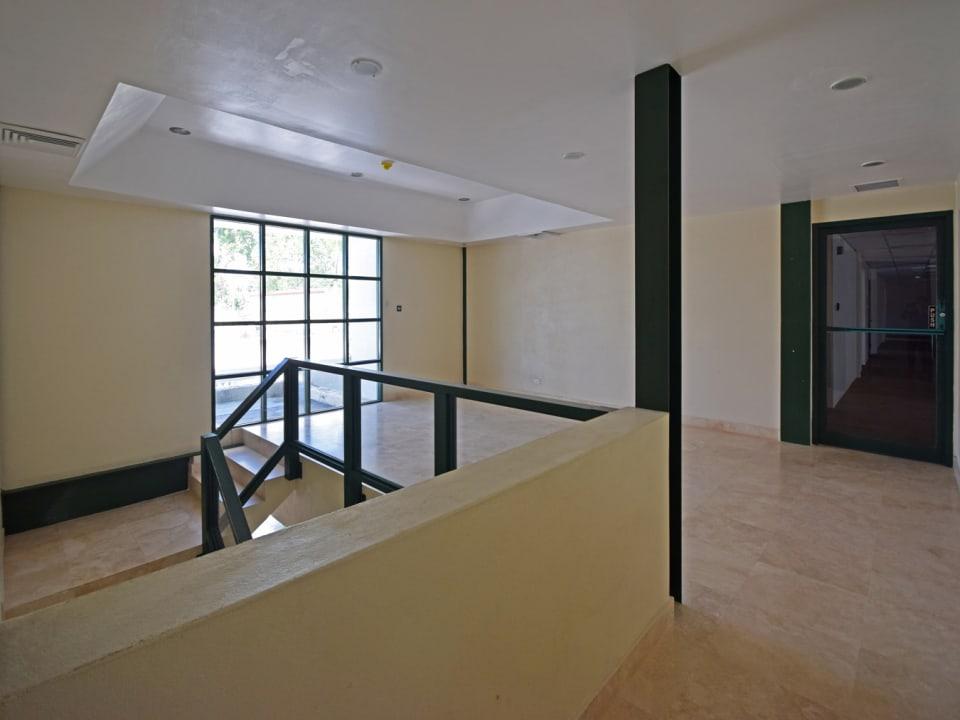 Upstairs open plan office area