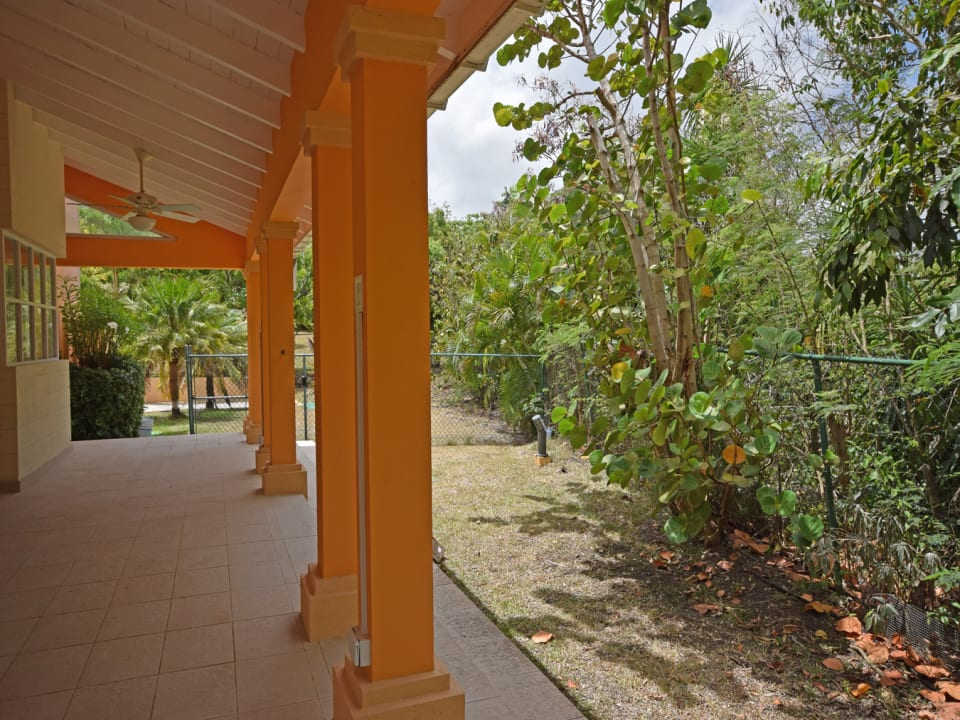 Patio off of the living and dining room