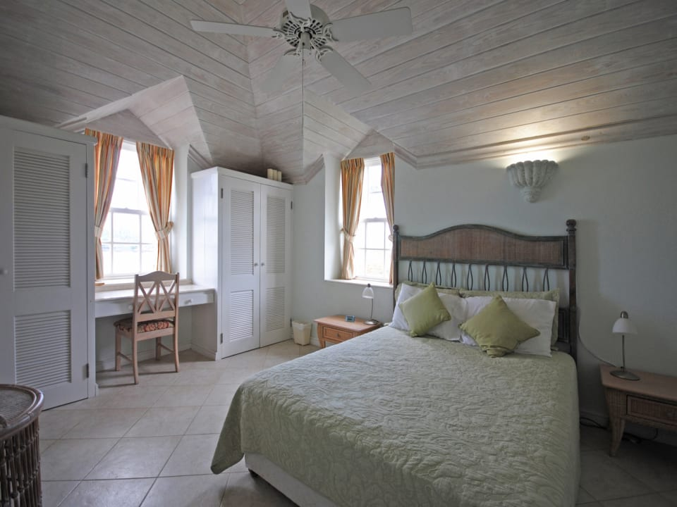 Bedroom 2 with pickled pine ceilings