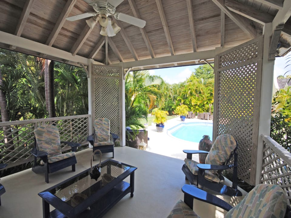 View from poolside gazebo and bar