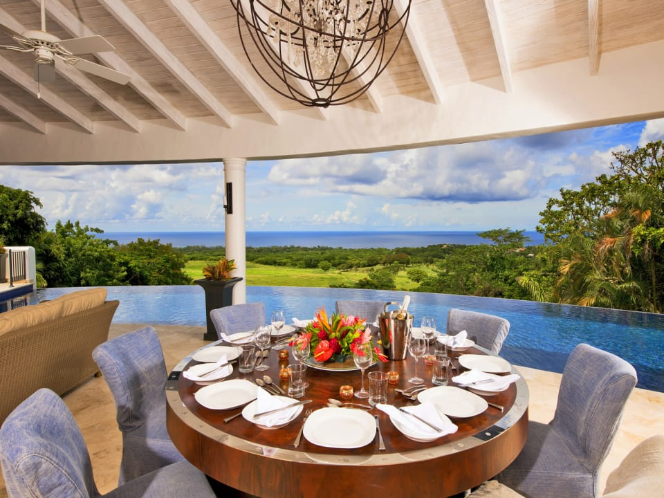 Terrace dining with incredible views