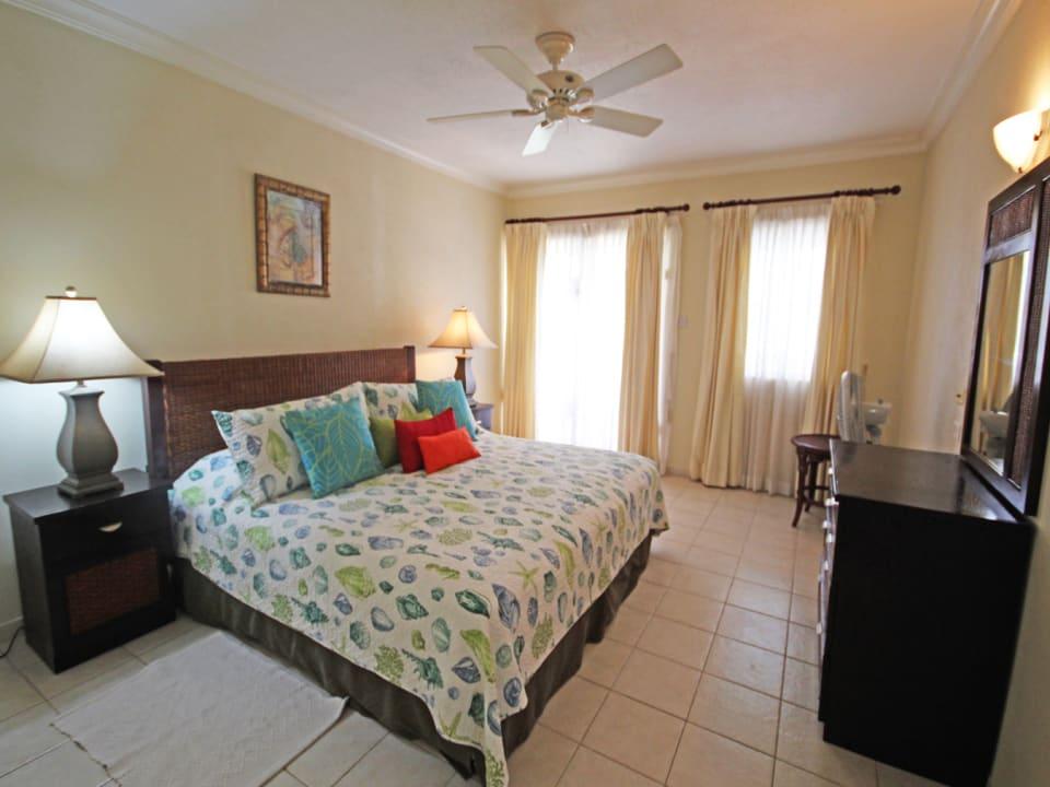 Bedroom with doors onto terrace