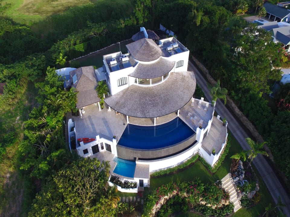 Aerial view of Martello House