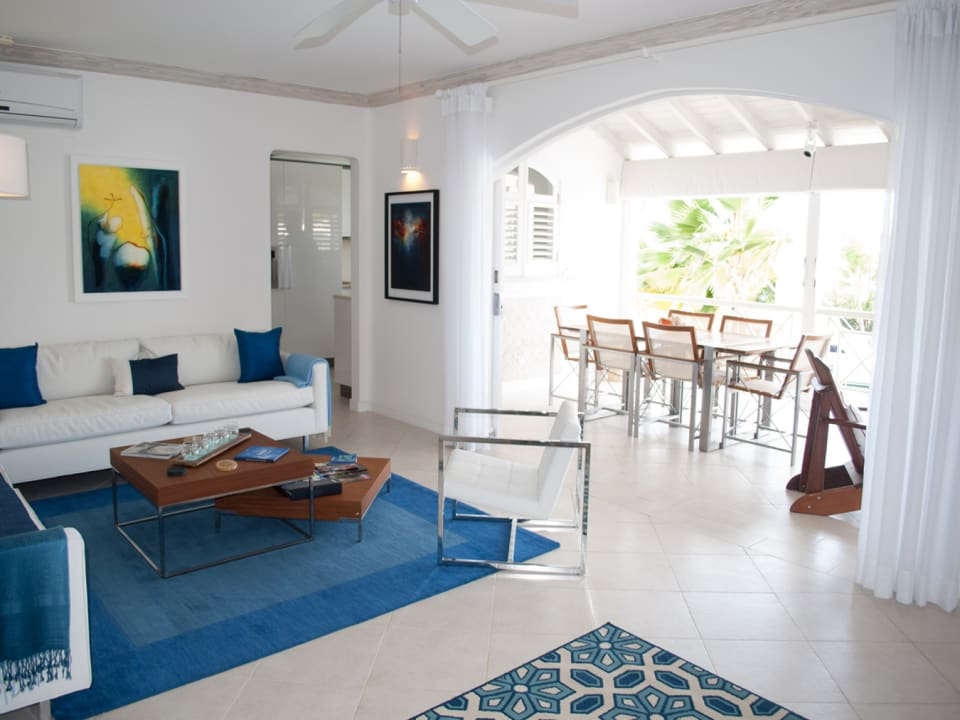 Sitting room opens to dining terrace