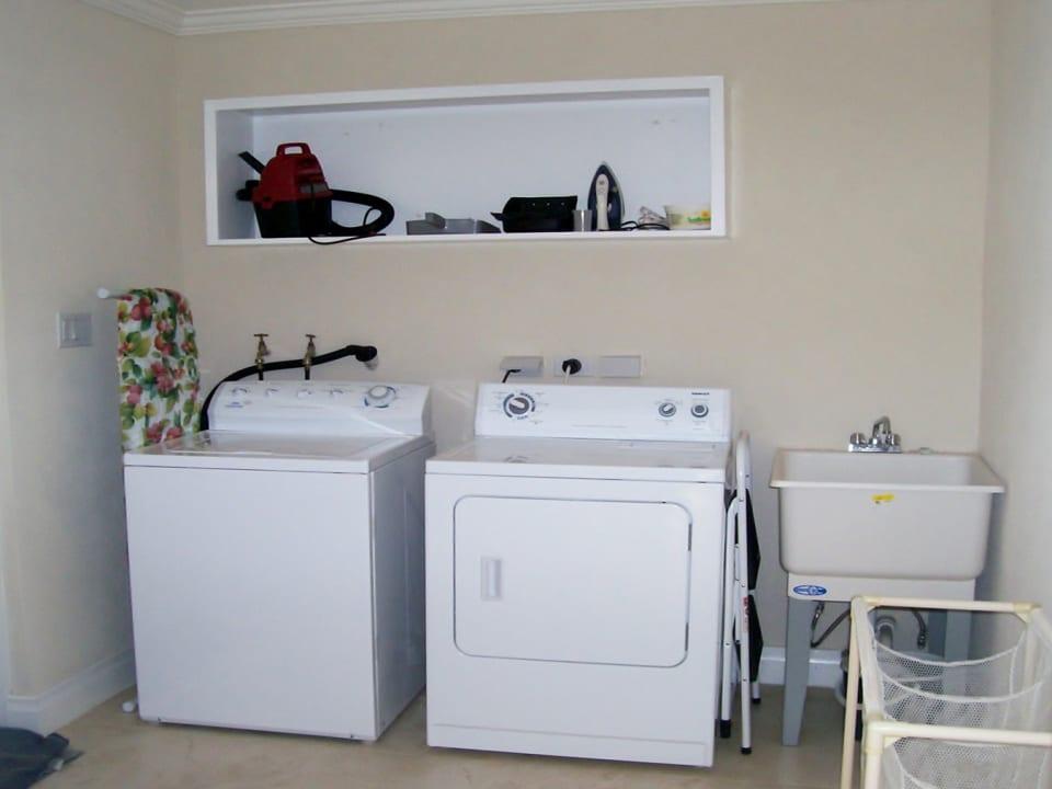 Spacious laundry area