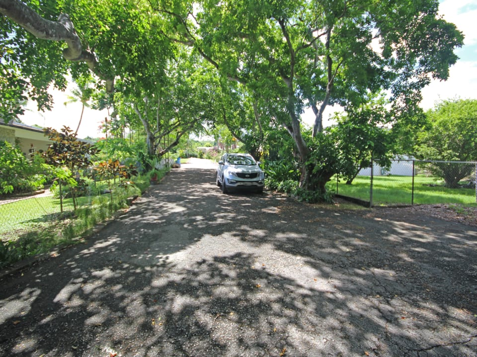 Shared neighbourhood road from lot