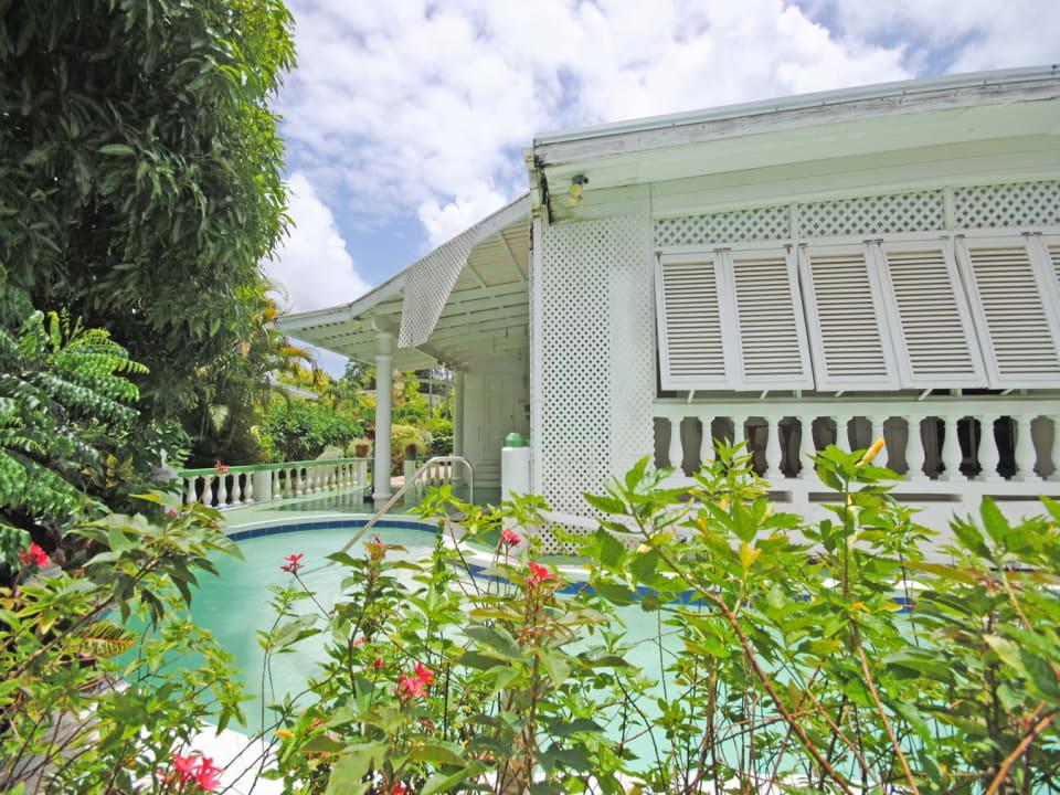 View of pool and veranda
