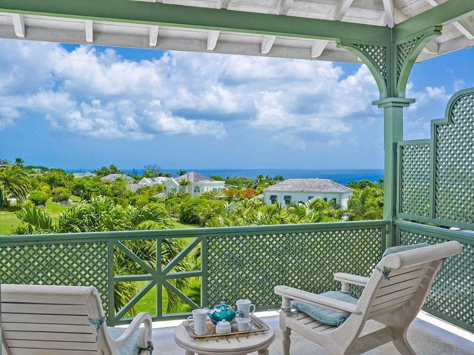 Master bedroom patio with sea views