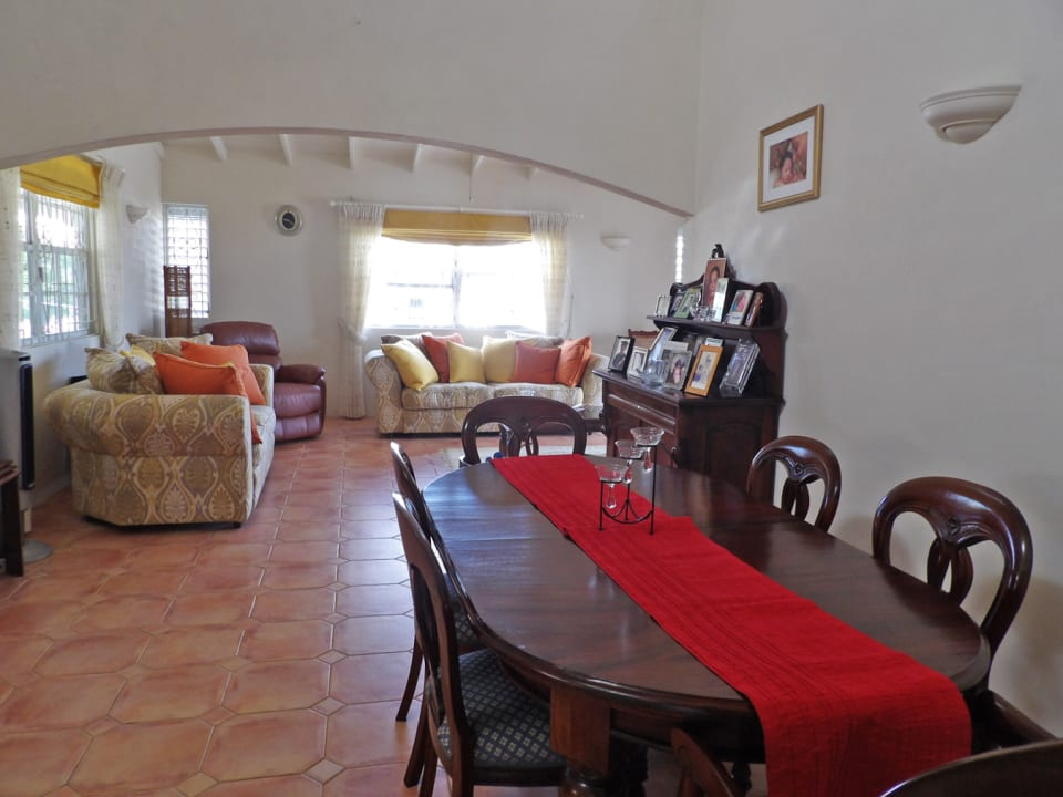 View of the dinning and living room