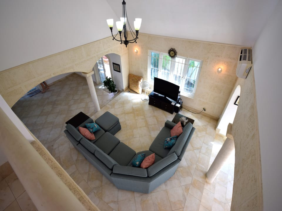 Birds Eye Photo of Family Room