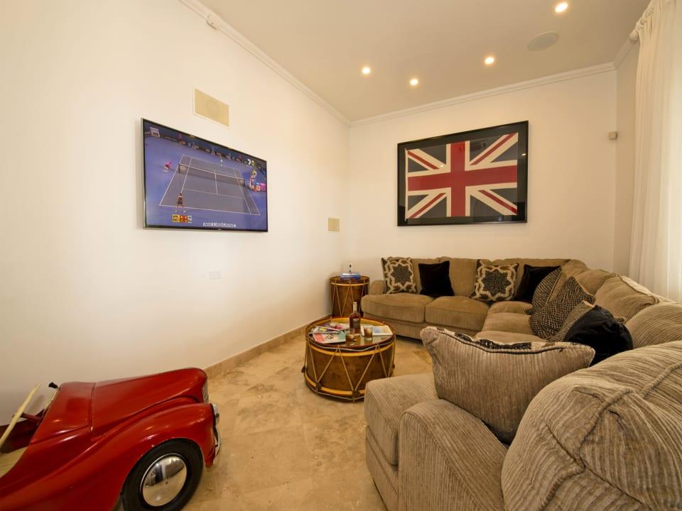 Main floor TV den