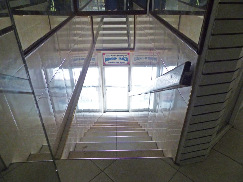 Staircase to Swan Street from the first floor