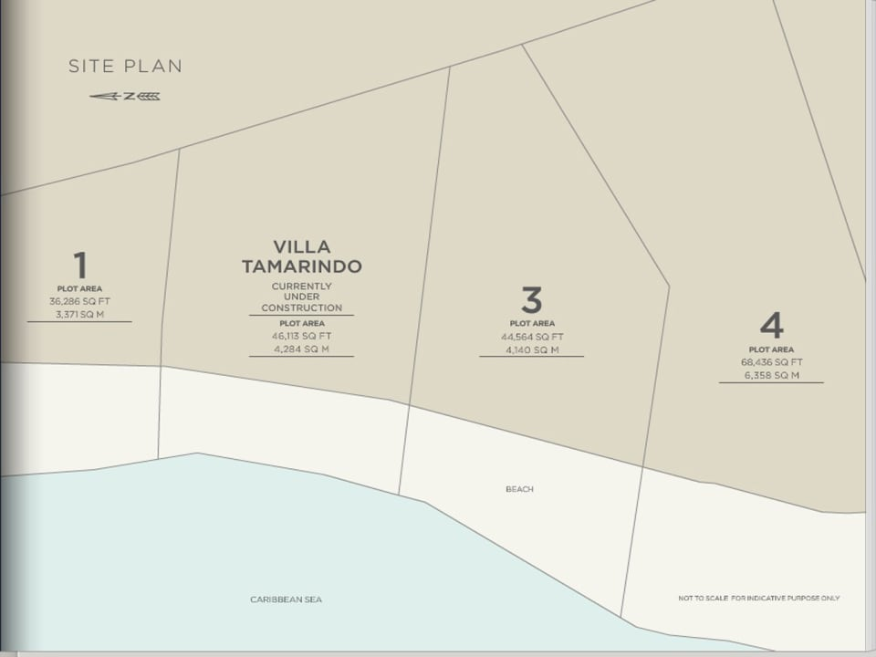 Plan showing the lots at Beachlands
