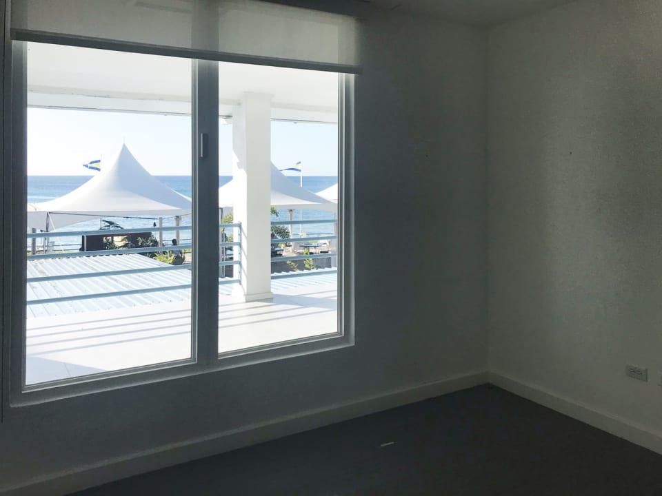 Large windows to sea views