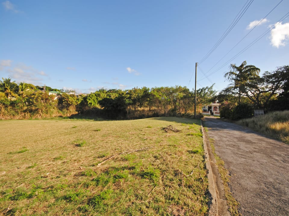 View of Lot 168 from the access road which is a culdesac