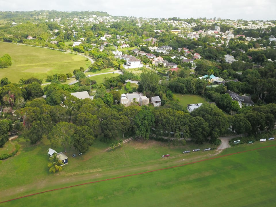 Aerial view of Polo Lodge