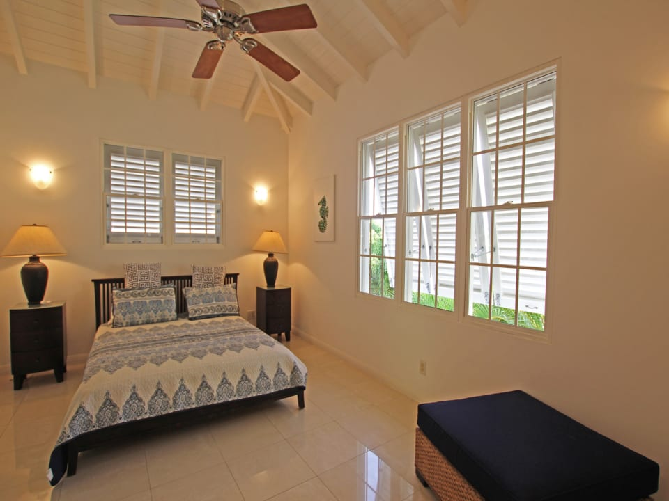 Guest Bedroom with ceiling fan and AC