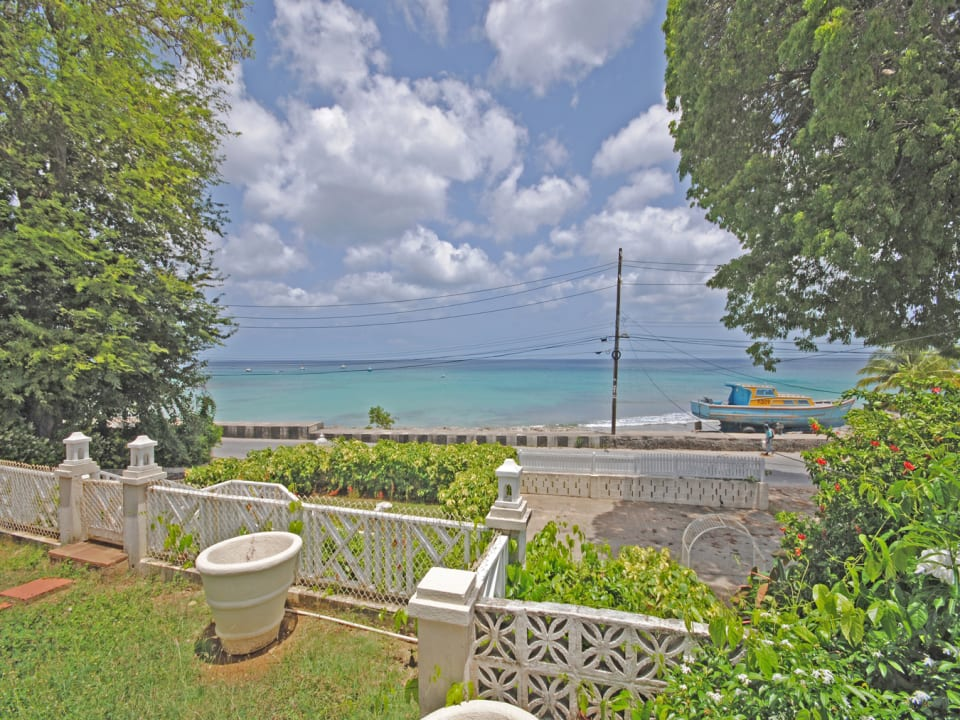View of the sea from veranda of house