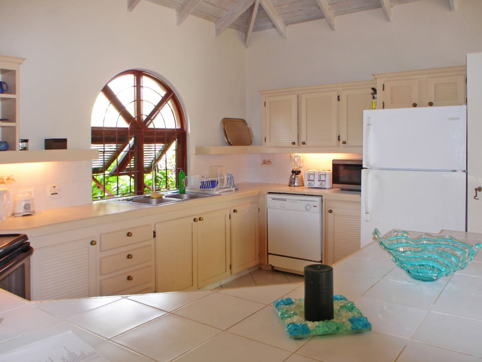 Bright kitchen with ample counter space