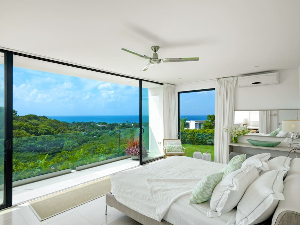 Master Bedroom overlooking the untouched gully and Caribbean sea