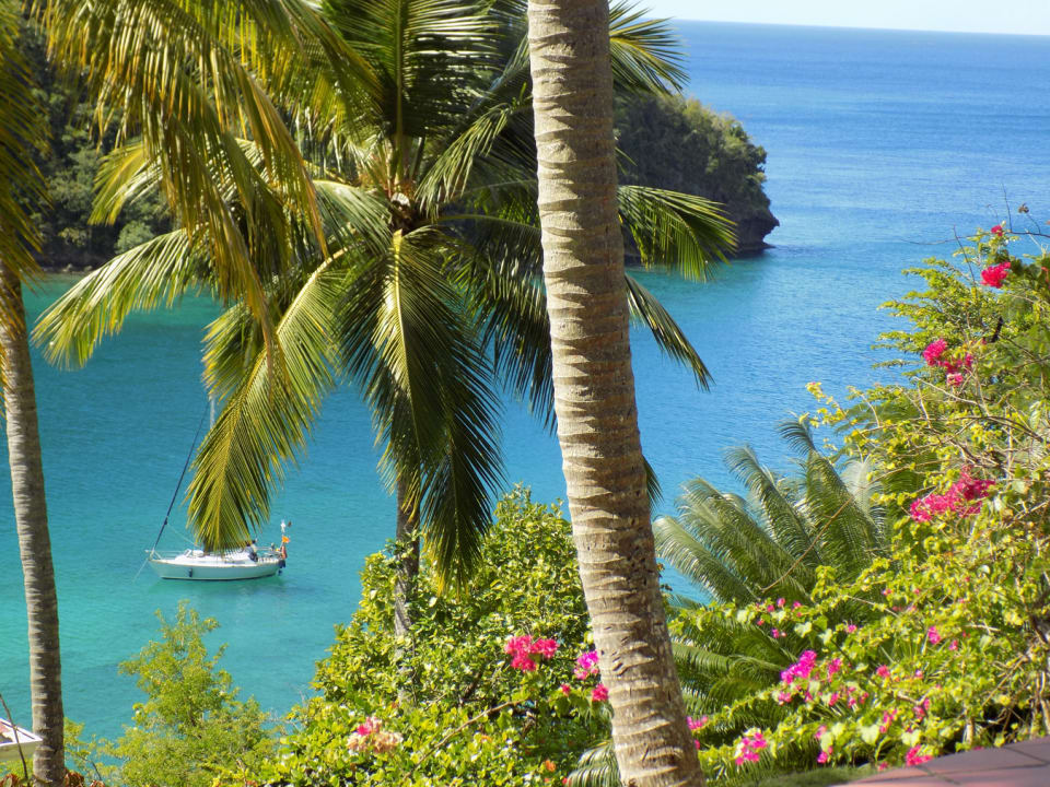 Overlooking the tranquil waters of Marigot Bay