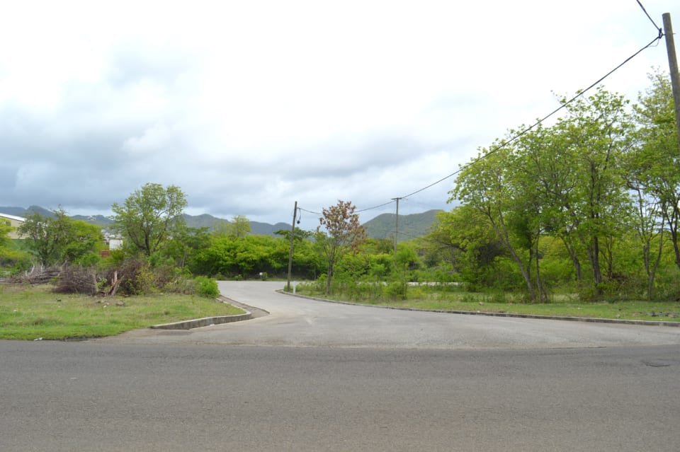 Paved Entrance into the Development