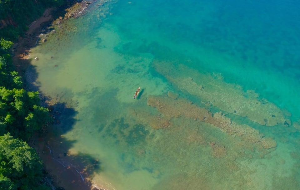 Overhead Anse Ferrie Bay