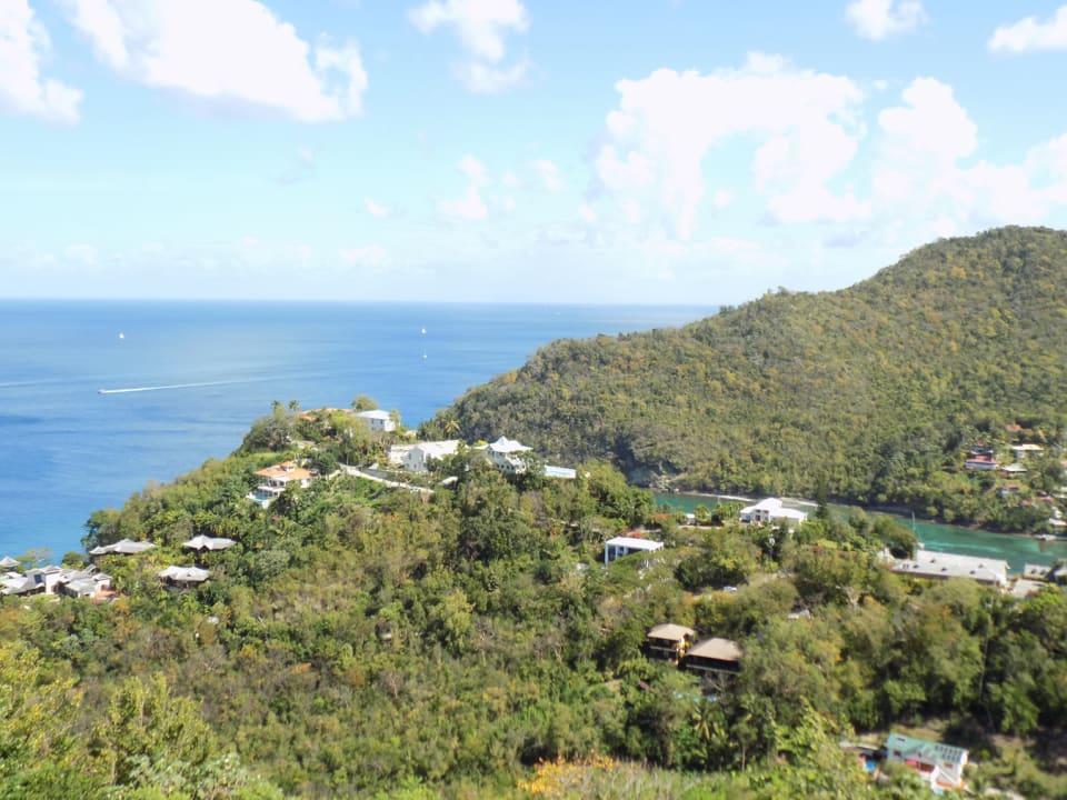 Entrance to Marigot Bay