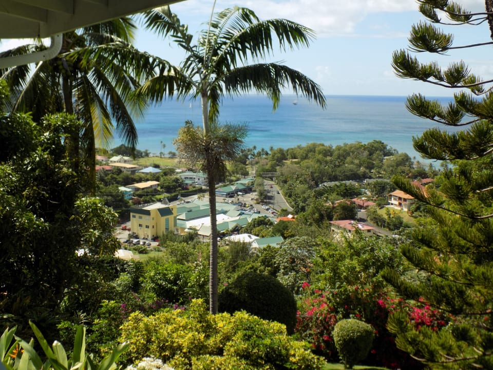 View over Sunny Acres and the Caribbean Sea