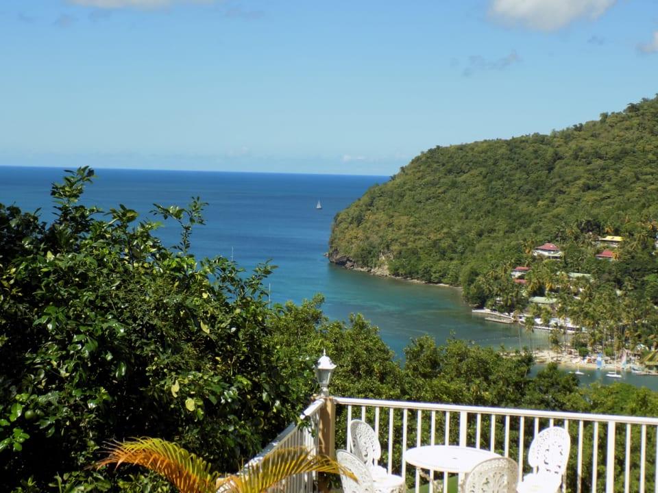 Patio & View of Marigot Bay