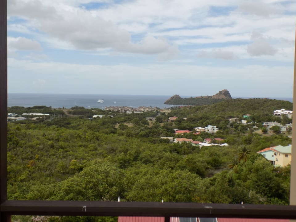 Amazing view of Pigeon Island and the Caribbean Seas from the balcony