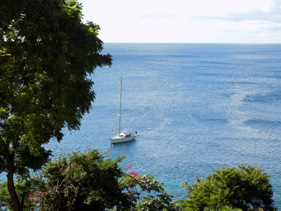 View of Tranquil Caribbean Sea