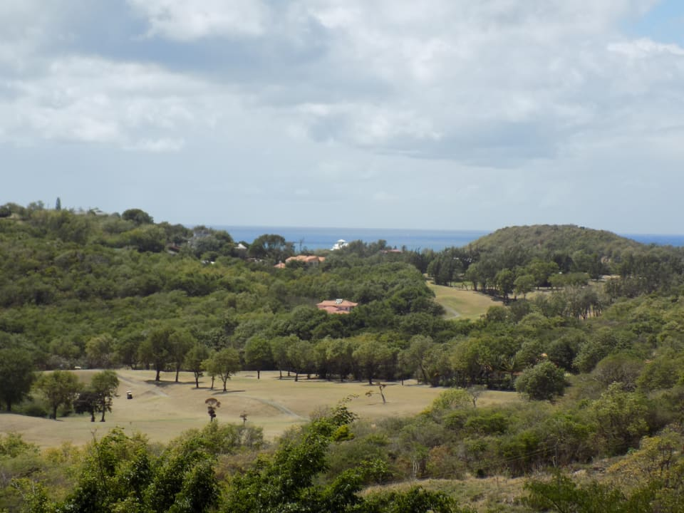 Views of Golf Course and Caribbean Sea