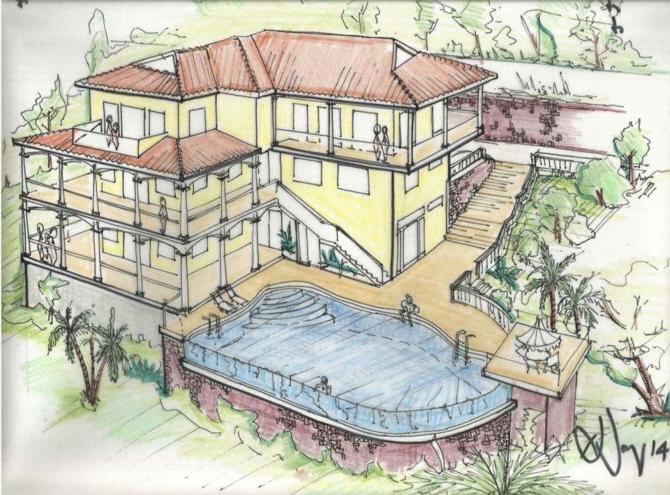 Concept Drawings of Completed Villa