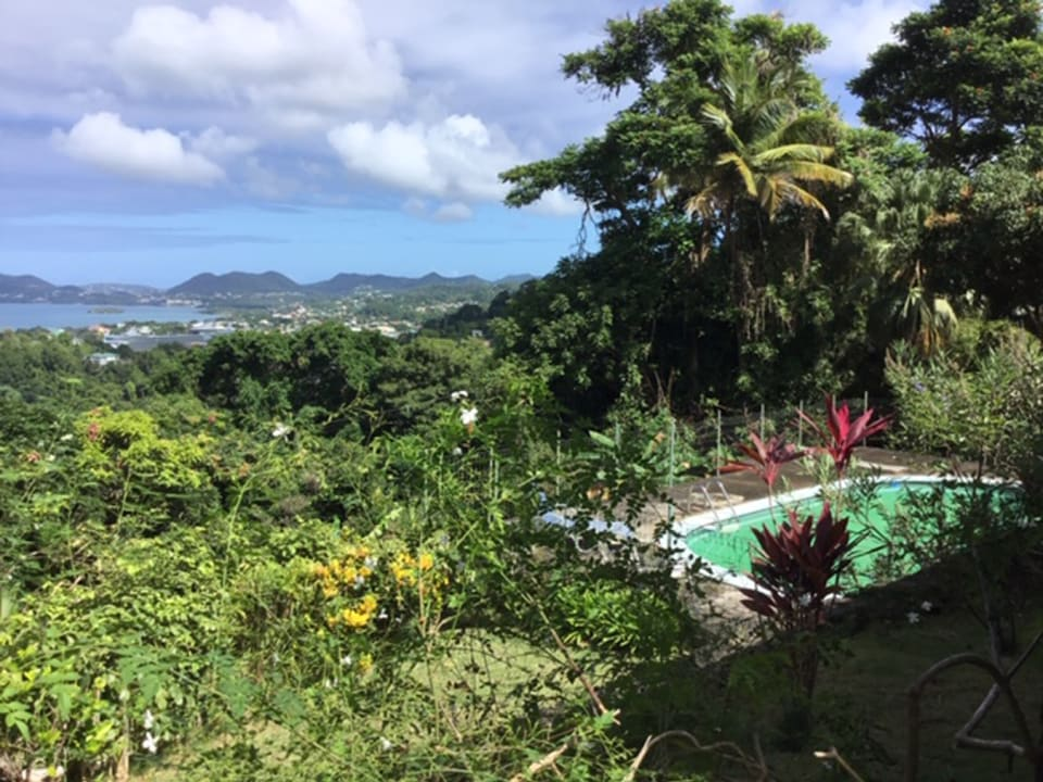 Pool & view of Castries