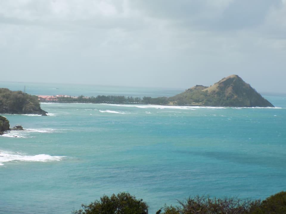 View of Pigeon Island Causeway