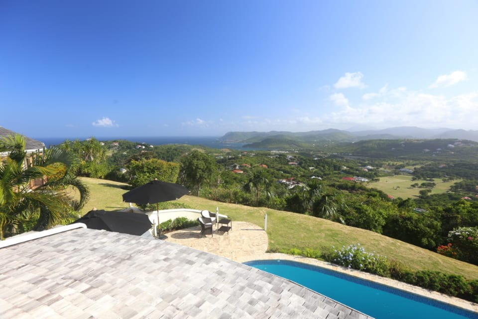 View of Rodney Bay from Master Bedroom Patio