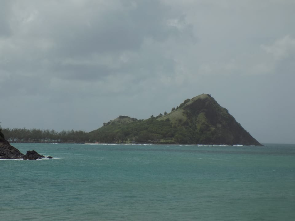 Pigeon Island to the West