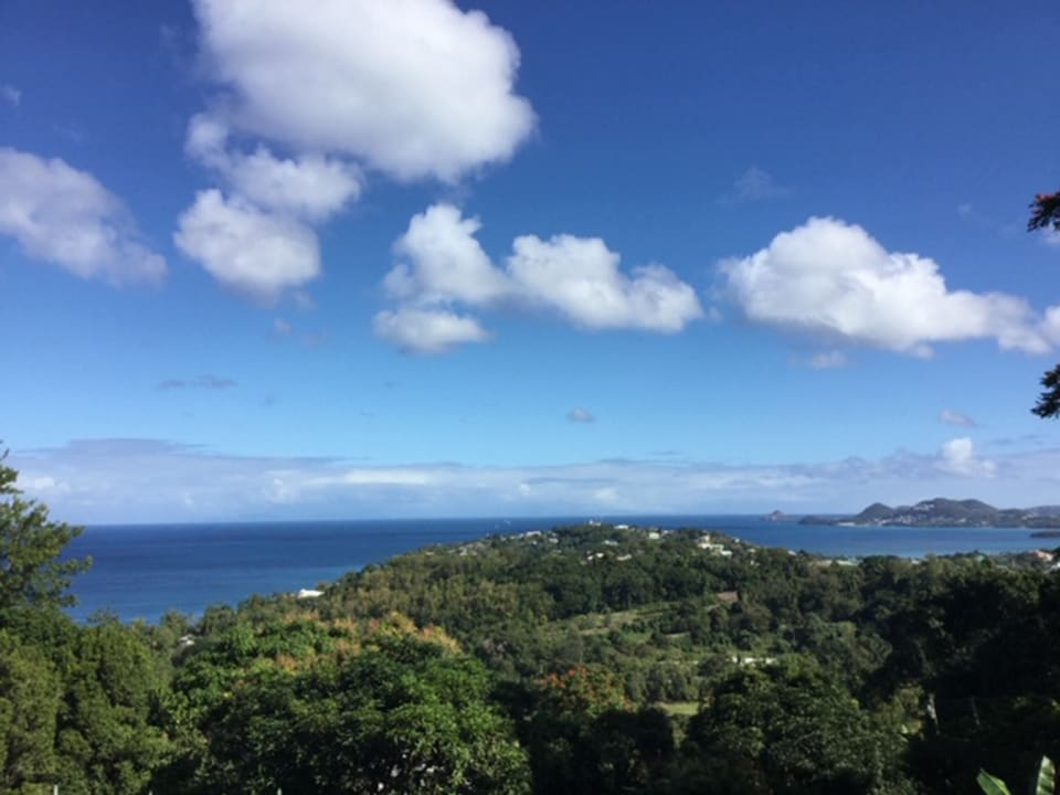 View of Caribbean Sea, Castries & North of the island