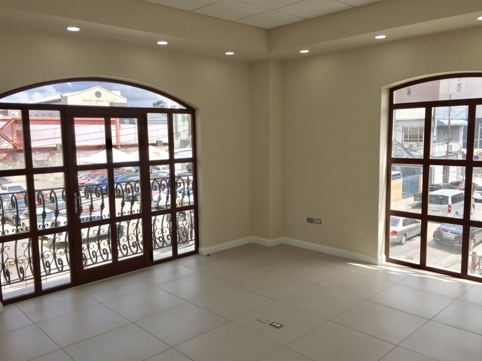 front office space with large windows