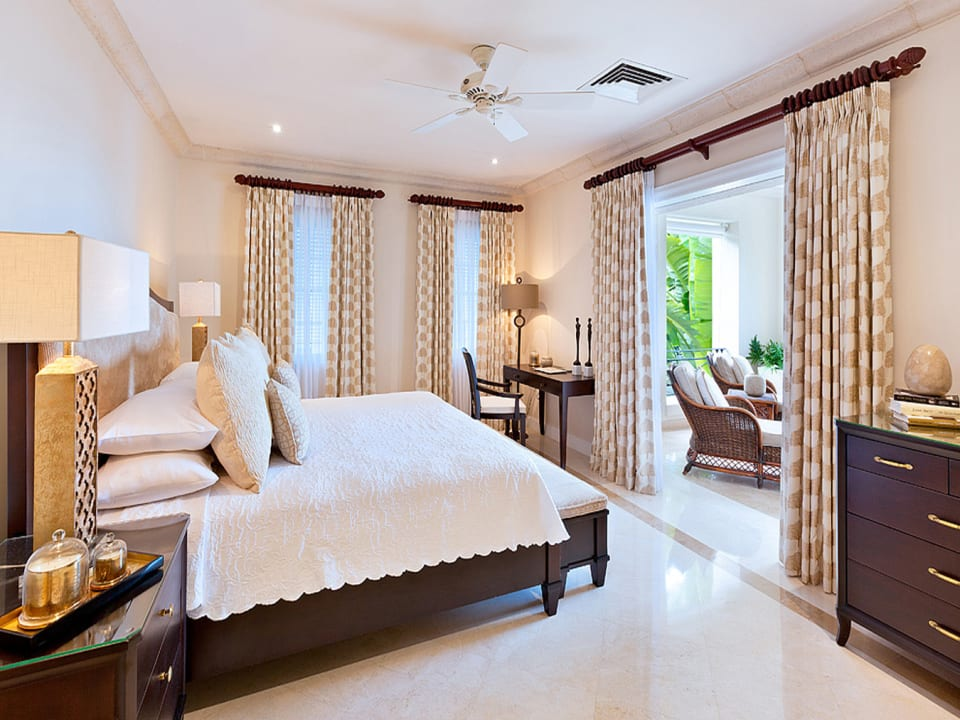 Master bedroom opens to main terrace