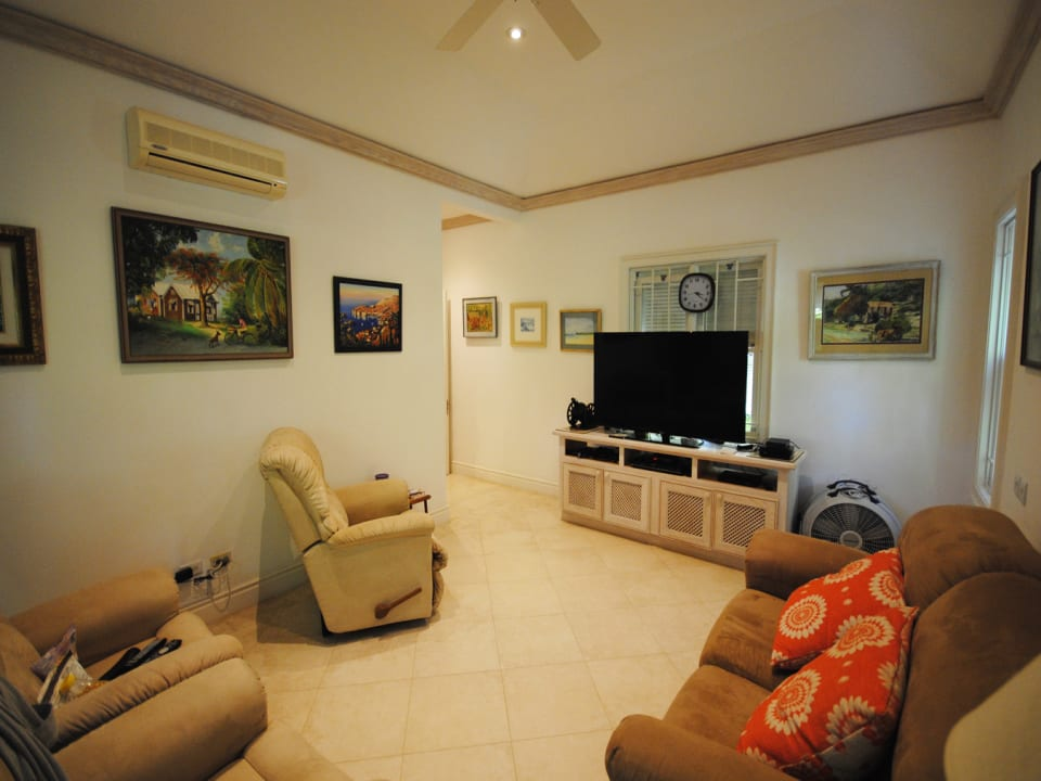 TV room and office