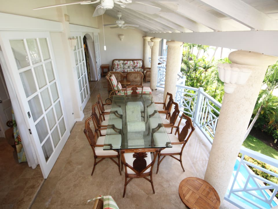 View of the beach-side verandah