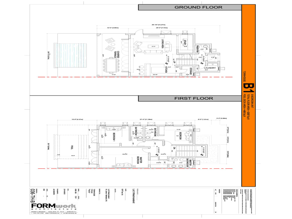 Townhouse Capri floor plans