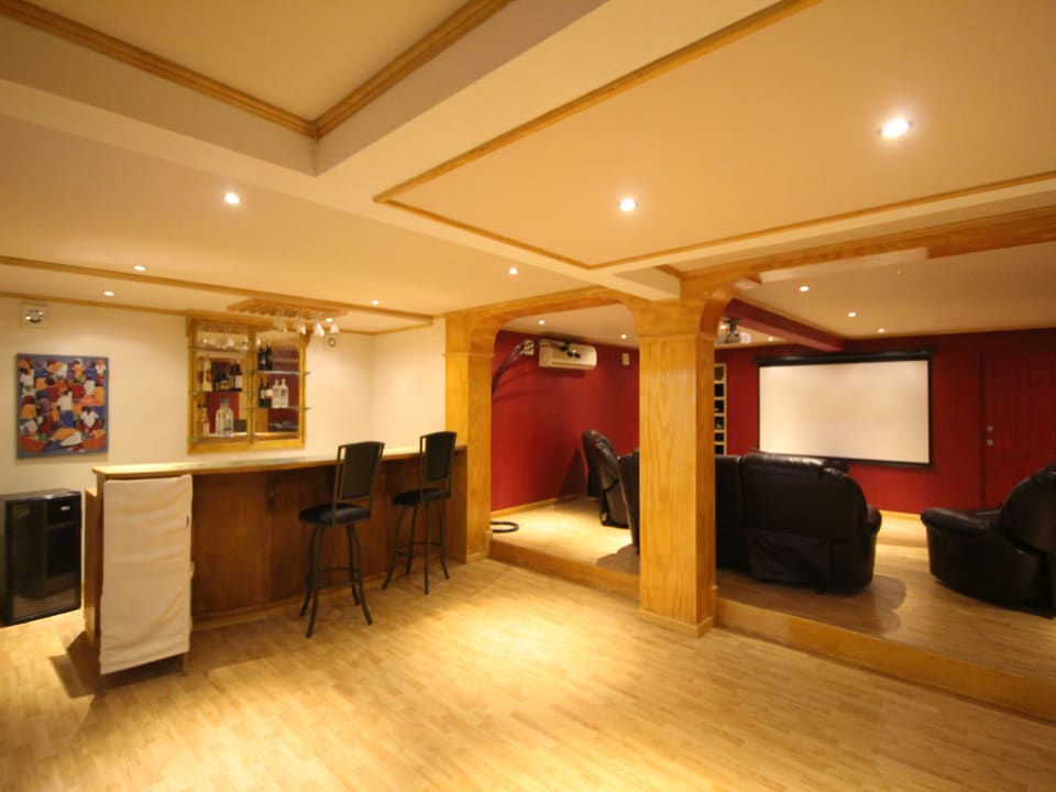 Media room with bar