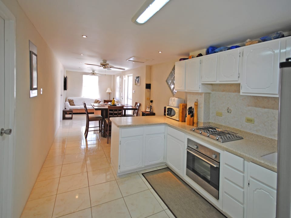 Modern and well equipped kitchen on ground floor
