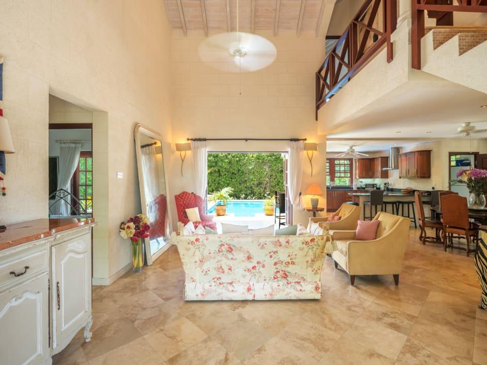 Spacious open plan living space